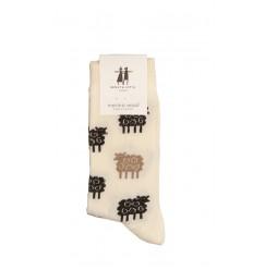 Chaussettes Bengt et lotta mouton blanc