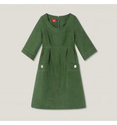 Ulla robe en lin grön