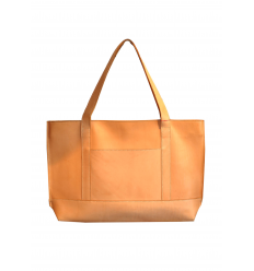 sac en cuir naturel grand et fin