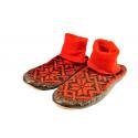 Chaussons-Chaussettes rouge et noir